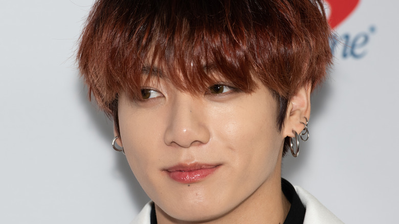 BTS's Jungkook smiles on the red carpet