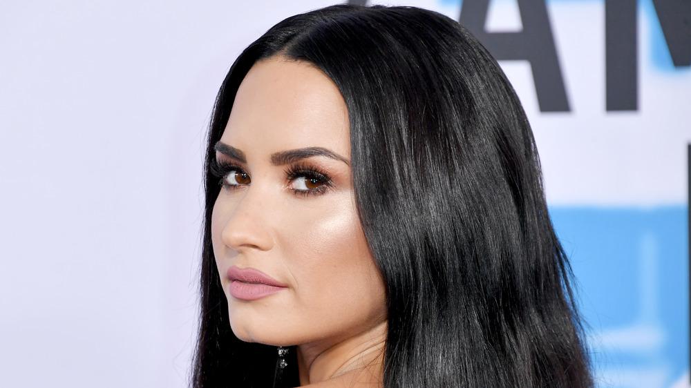 Demi Lovato at the 2018 American Music Awards