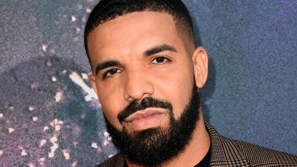 Drake staring at camera