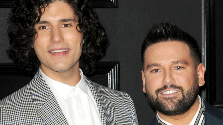 Dan and Shay on the red carpet