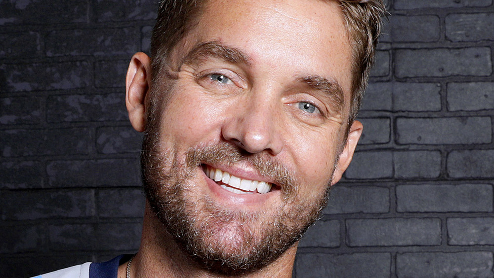Brett Young smiling for camera