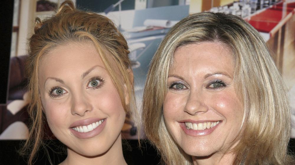 Olivia Newton-John with her daughter, Chloe Lattanzi