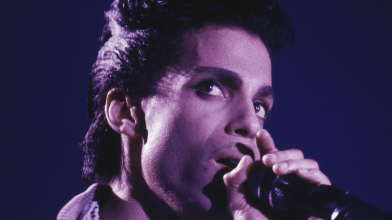 Prince performing in concert