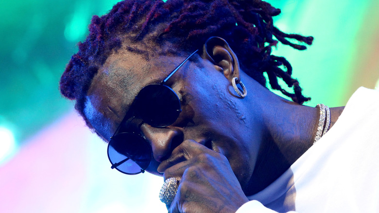 Young Thug performing on stage
