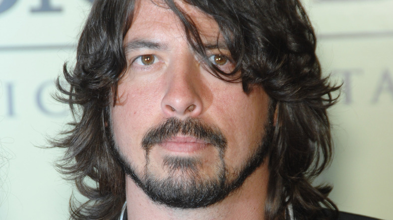 Dave Grohl staring