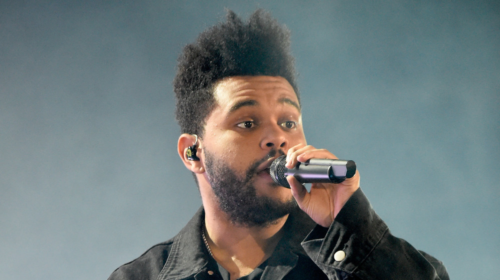 The Weeknd performs on stage