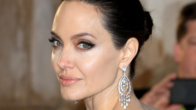 Angelina Jolie posing at a red carpet event