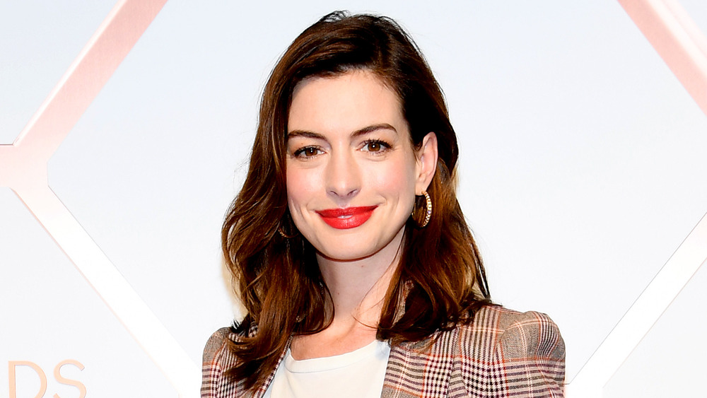 Anne Hathaway on red carpet