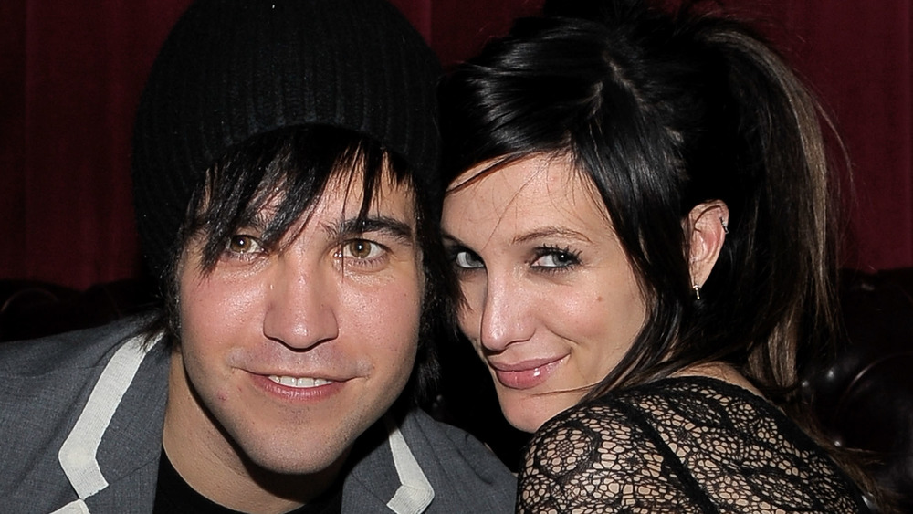 Ashlee Simpson with her ex-husband Pete Wentz