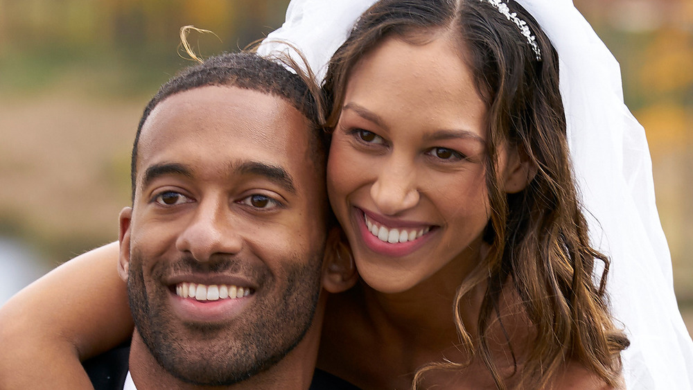 Matt James and Serena Pitt smiling