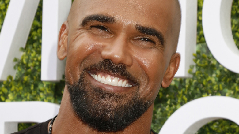 Shemar Moore with a huge smile 2017