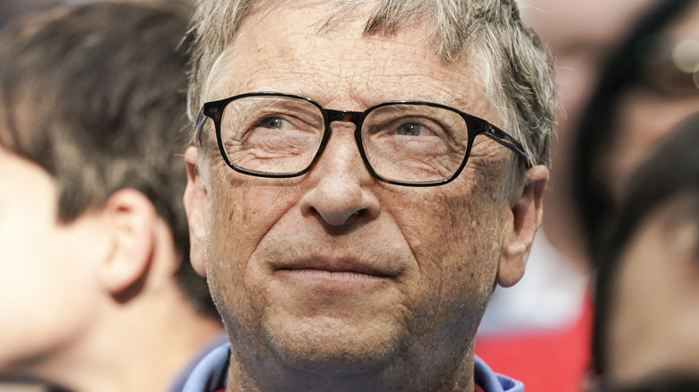 Bill Gates with serious expression
