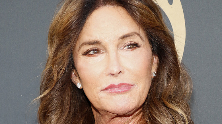 Caitlyn Jenner poses in a black dress.