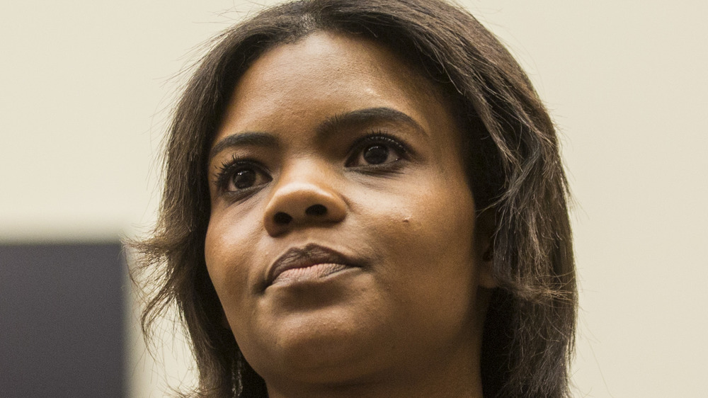 Candace Owens staring off into the distance