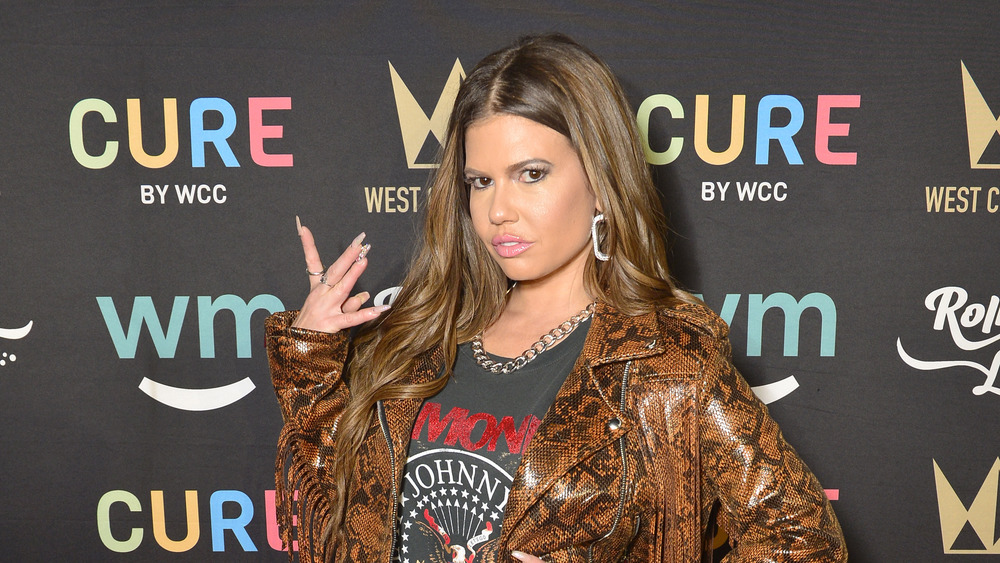 Chanel West Coast posing on a red carpet