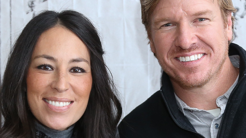 Chip and Joanna Gaines pose
