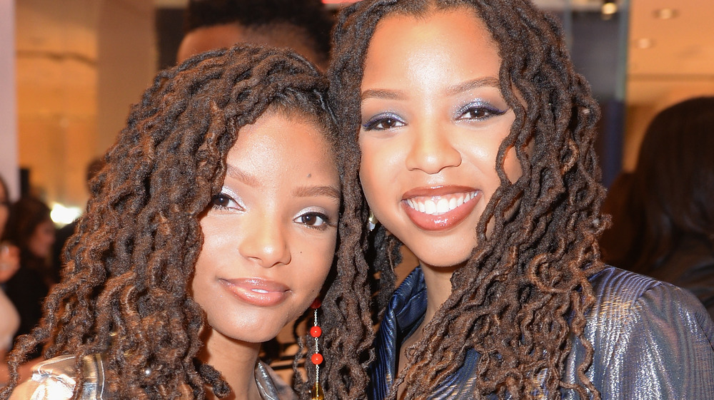 """Chloe and Halle Bailey at the premiere of """"Lion is King"""""""