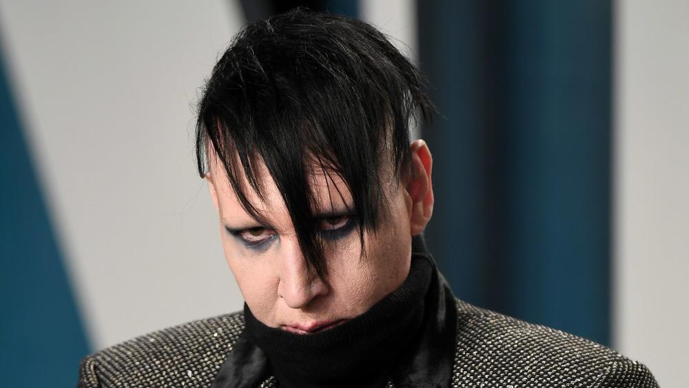 Marilyn Manson at the 2020 Vanity Fair Oscar party