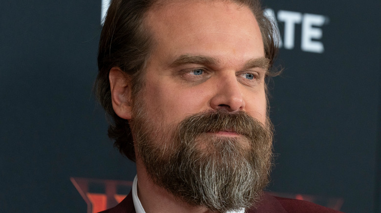 David Harbour on a red carpet