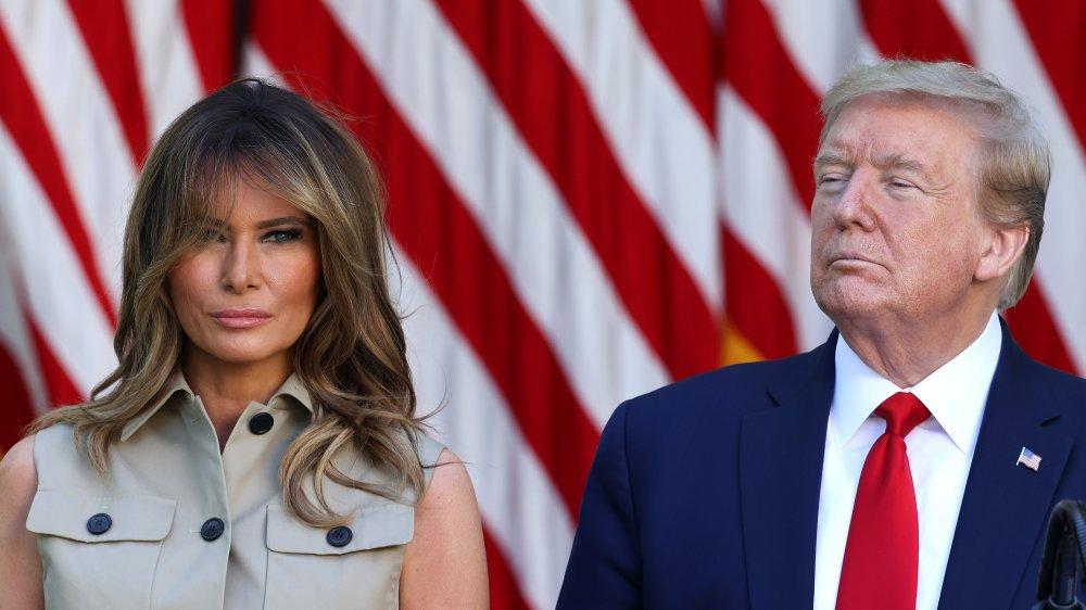 Melania Trump with Donald Trump