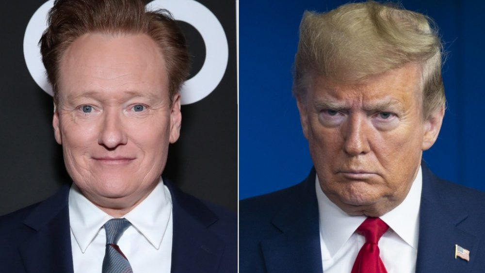 Conan O'Brien and Donald Trump