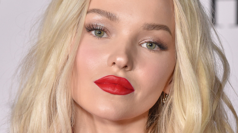 Dove Cameron posing on red carpet