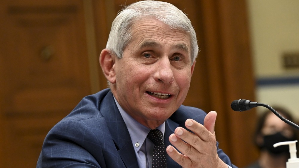 Dr. Anthony Fauci testifies in front of microphone