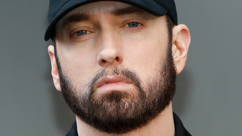 Eminem posing