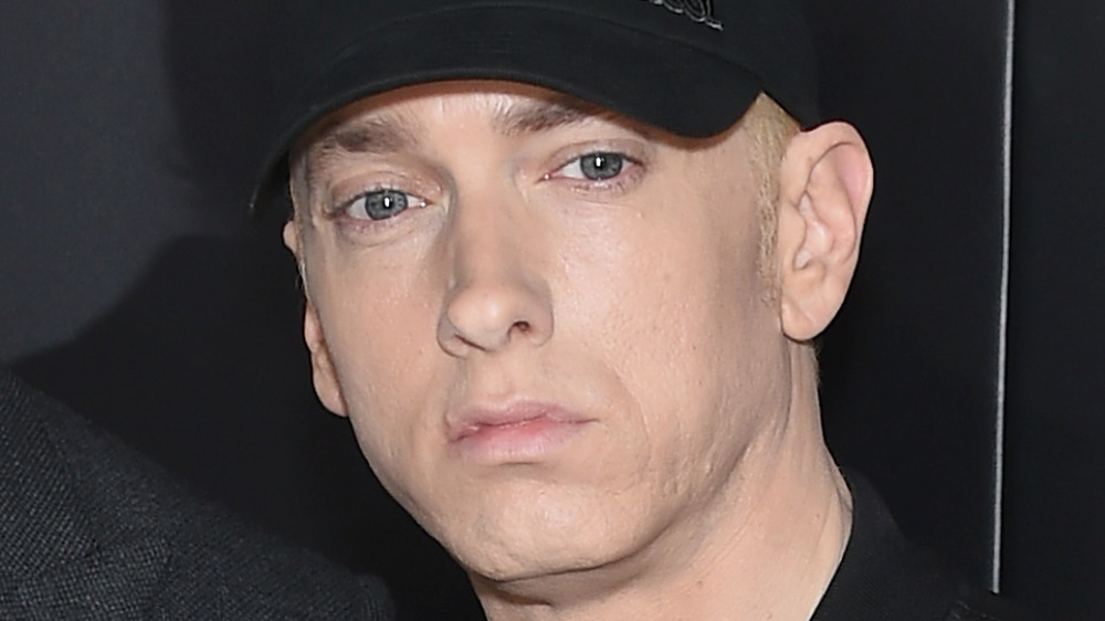 Eminem looks off into the distance