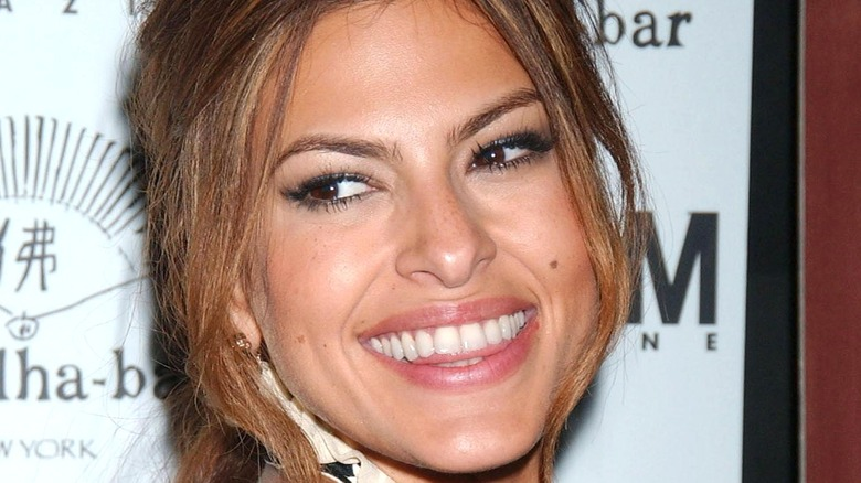 Eva Mendes at a magazine cover party