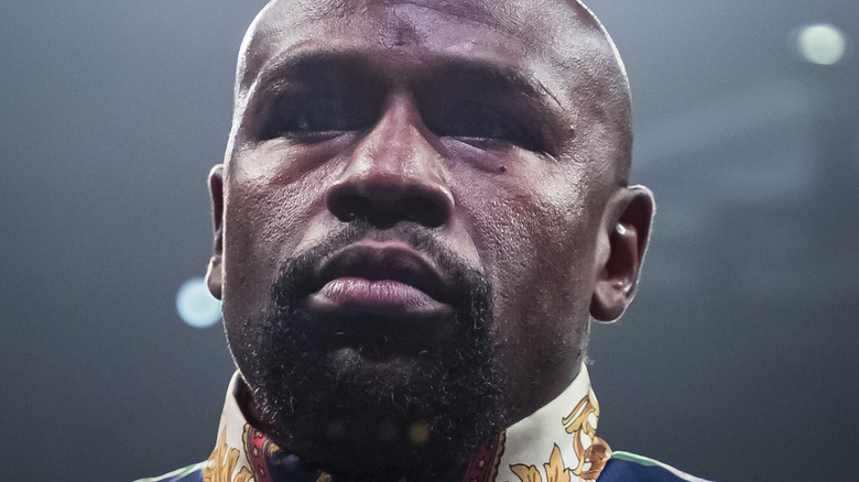Floyd Mayweather standing in the ring