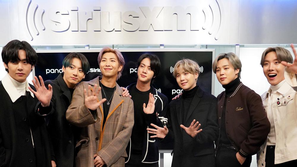 K-pop sensation BTS waving for the camera