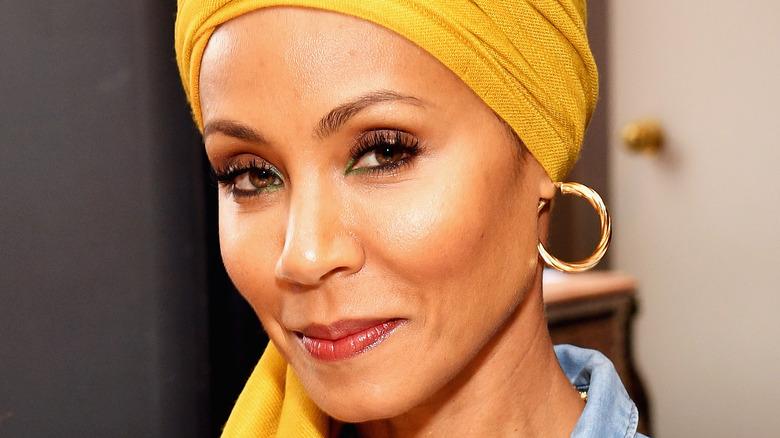 Jada Pinkett Smith wearing a turban