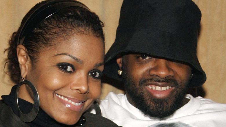 Janet Jackson and Jermaine Dupri smiling