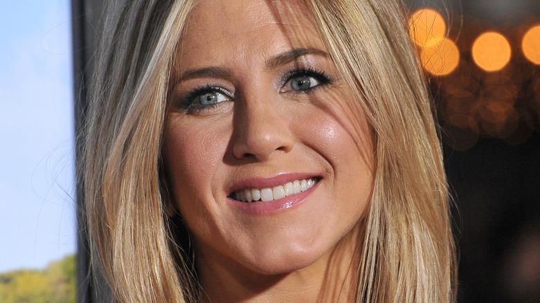 Jennifer Aniston smiling for the cameras