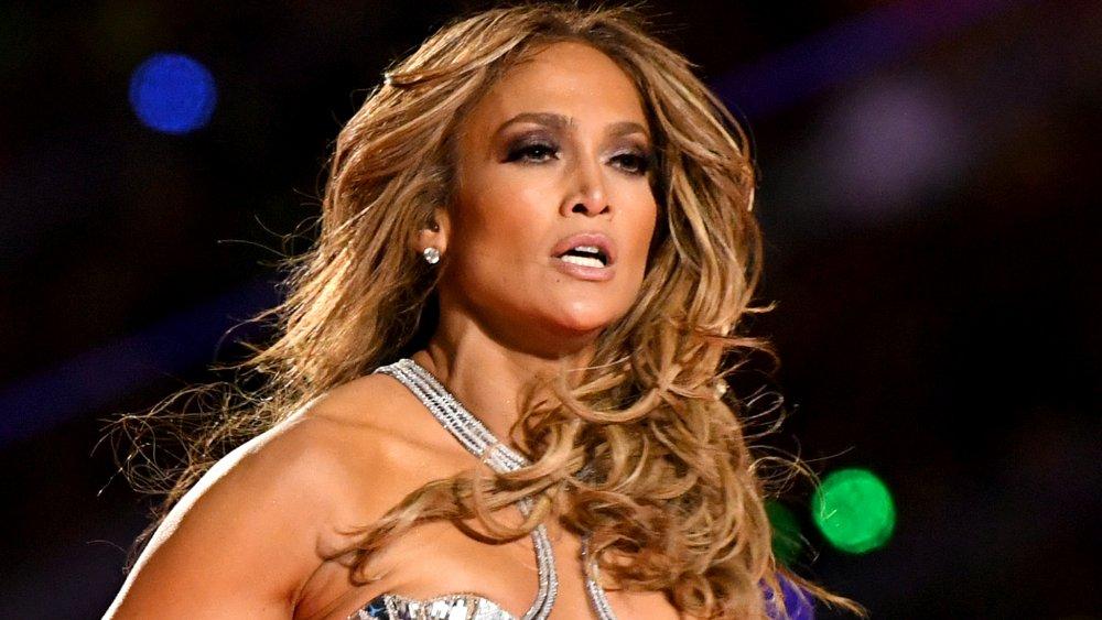 Jennifer Lopez at Super Bowl halftime show