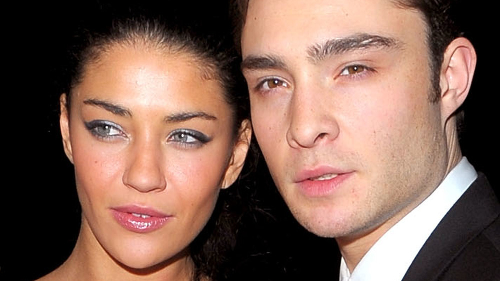 Jessica Szohr and Ed Westwick on the red carpet