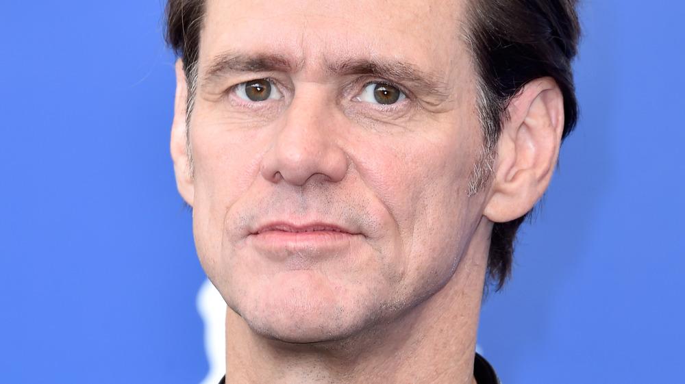Jim Carrey looking somber