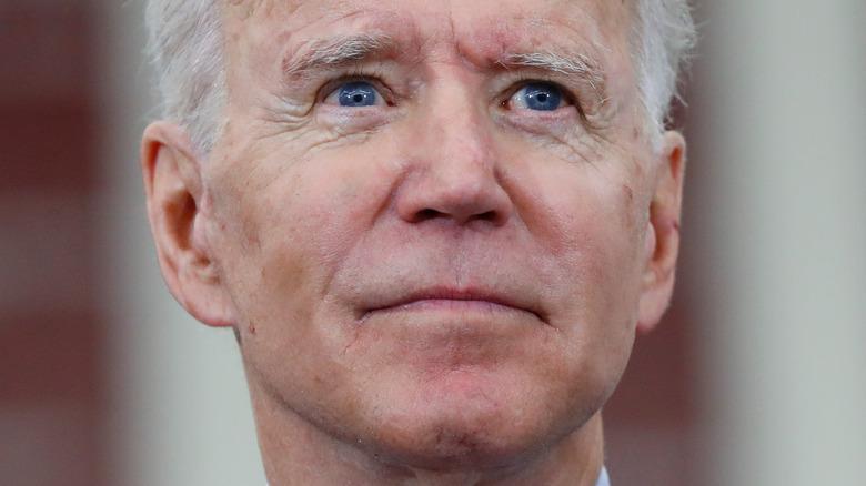 Joe Biden with a neutral expression