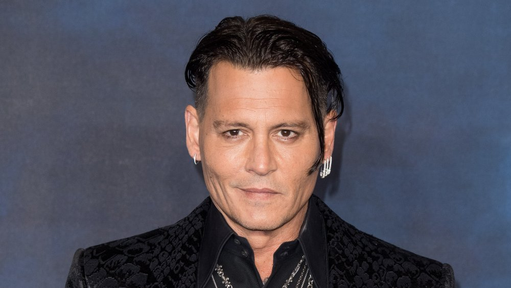Johnny Depp at a The Crimes Of Grindelwald premiere
