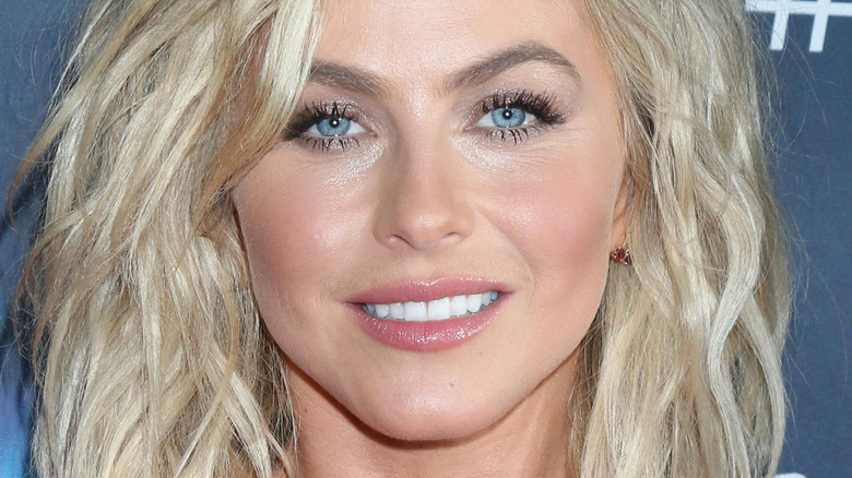 Julianne Hough with hair down and wide smile