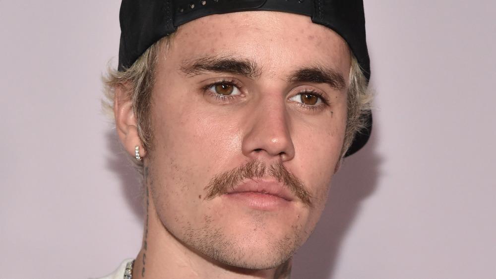 Justin Bieber staring