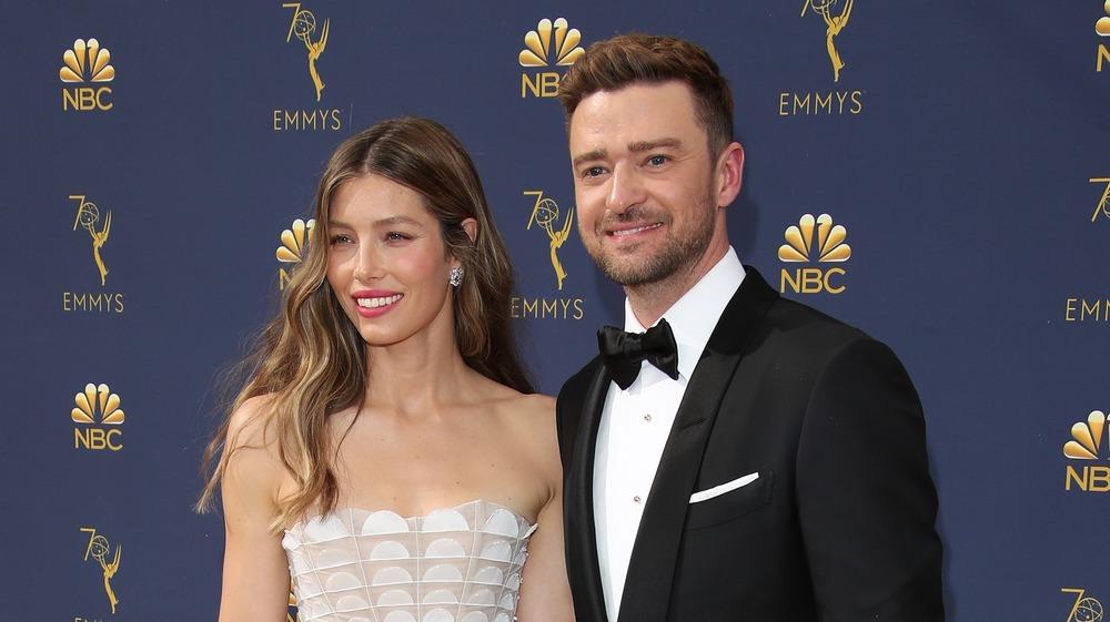 Jessica Biel and Justin Timberlake red carpet