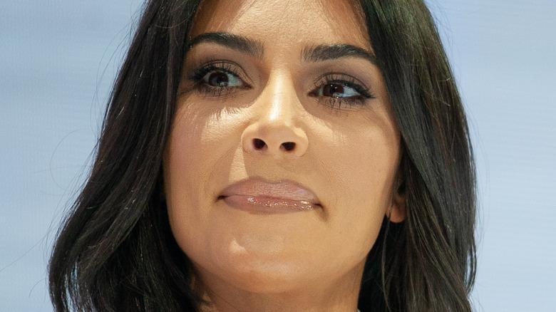 Kim Kardashian on a panel