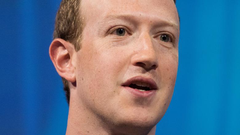 Facebook CEO Mark Zuckerberg in Press conference at VIVA Technology 2018.