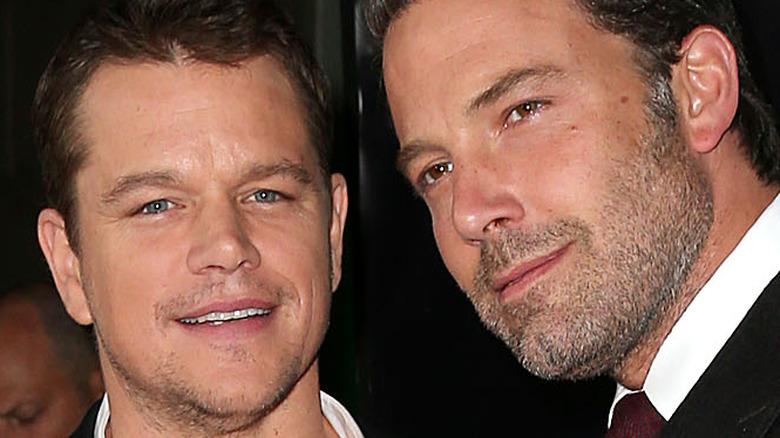 Matt Damon and Ben Affleck on the red carpet