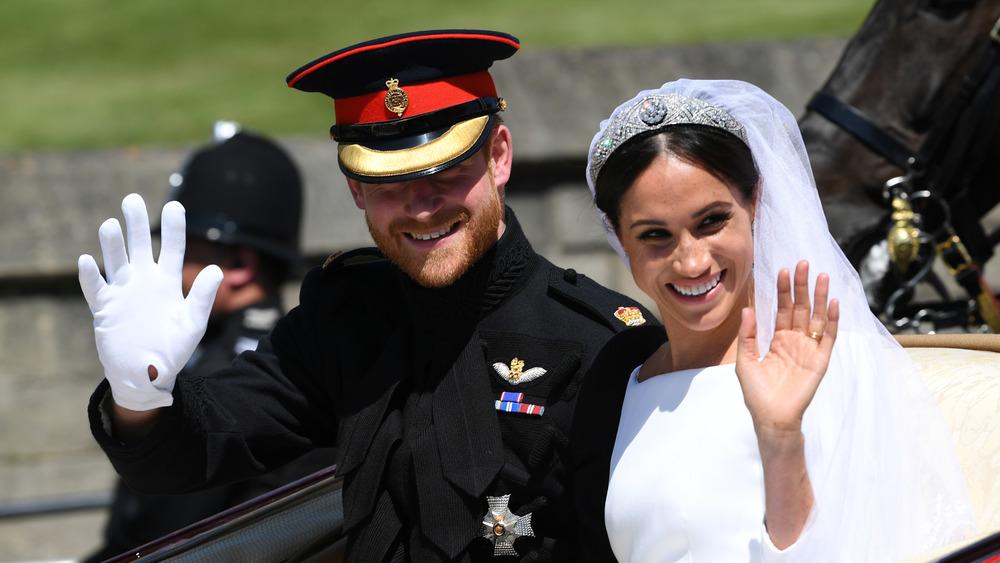 Prince Harry & Meghan Markle on their wedding day