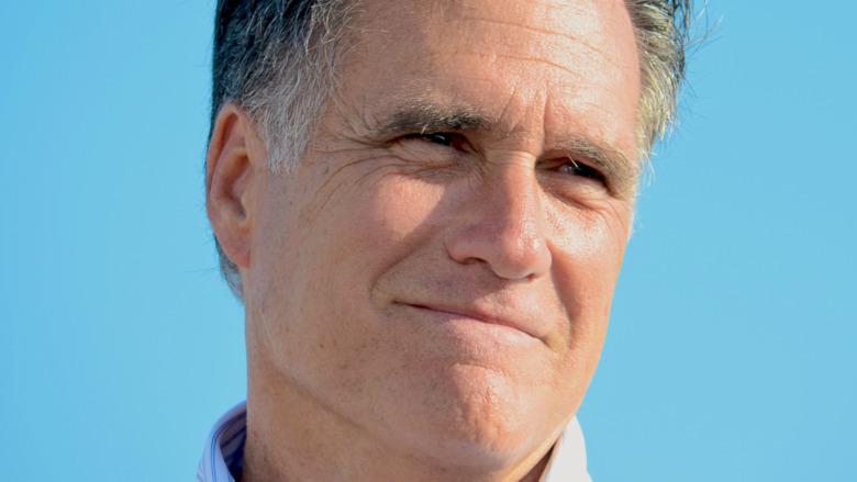 Mitt Romney poses