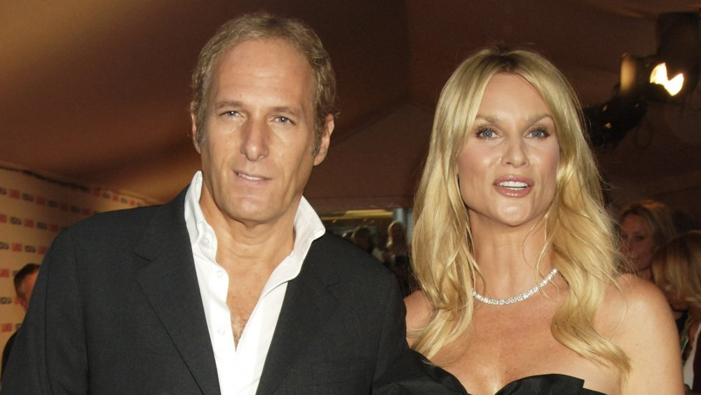 Michael Bolton and Nicolette Sheridan arrive at the Glamour Women Of The Year Awards (UK)