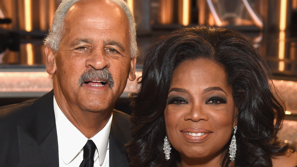 Stedman Graham and Oprah Winfrey posing